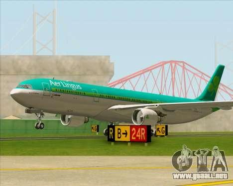 Airbus A330-300 Aer Lingus para la vista superior GTA San Andreas