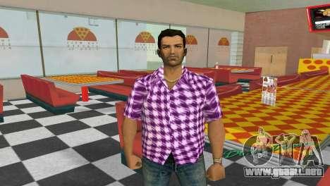 Kockas polo - rozsaszin T-Shirt para GTA Vice City segunda pantalla