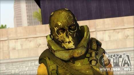 Claude Resurrection Skin from COD 5 v2 para GTA San Andreas tercera pantalla