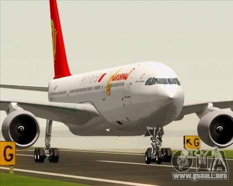 Airbus A330-200 Air China para GTA San Andreas vista hacia atrás