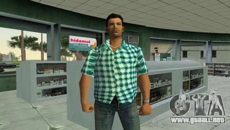 Kockas polo - vilagoskek T-Shirt para GTA Vice City
