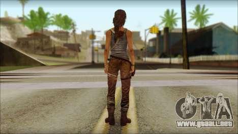 Tomb Raider Skin 12 2013 para GTA San Andreas segunda pantalla