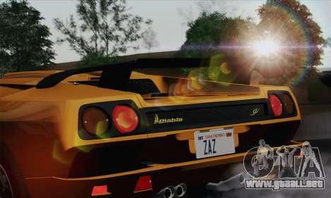 Lamborghini Diablo SV 1995 (HQLM) para GTA San Andreas vista hacia atrás
