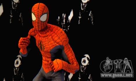 Skin The Amazing Spider Man 2 - Suit Edge Of Tim para GTA San Andreas sucesivamente de pantalla