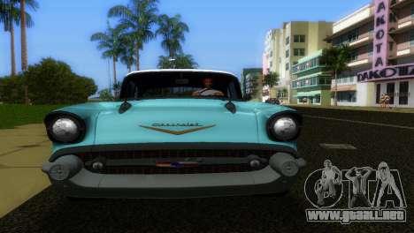 Chevrolet BelAir 1957 para GTA Vice City visión correcta