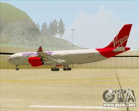 Airbus A340-313 Virgin Atlantic Airways para vista inferior GTA San Andreas