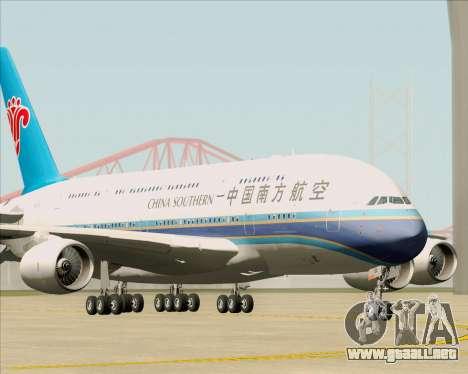 Airbus A380-841 China Southern Airlines para GTA San Andreas left