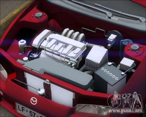 Mazda 323F 1995 para GTA San Andreas vista hacia atrás
