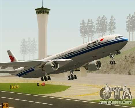 Airbus A330-300 Air China para las ruedas de GTA San Andreas