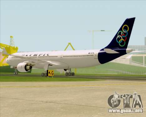Airbus A330-300 Olympic Airlines para la visión correcta GTA San Andreas