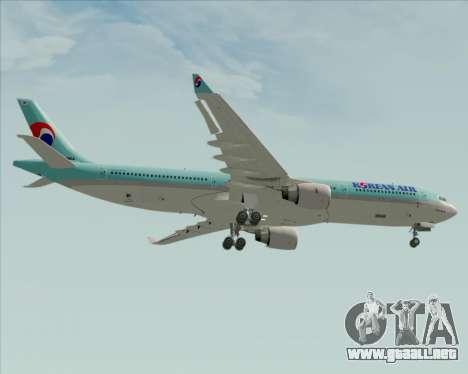 Airbus A330-300 Korean Air para vista inferior GTA San Andreas