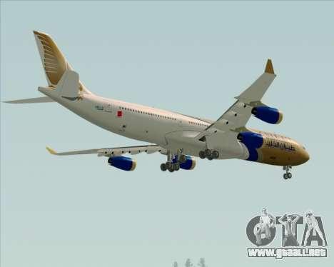 Airbus A340-313 Gulf Air para la vista superior GTA San Andreas