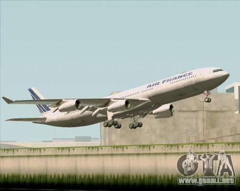 Airbus A340-313 Air France (Old Livery) para visión interna GTA San Andreas