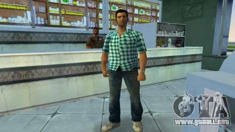 Kockas polo - vilagoskek T-Shirt para GTA Vice City segunda pantalla