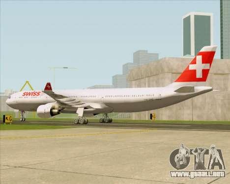 Airbus A330-300 Swiss International Air Lines para la visión correcta GTA San Andreas