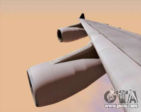 Airbus A340-313 Air Canada para vista inferior GTA San Andreas