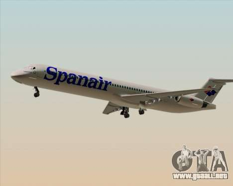 McDonnell Douglas MD-82 Spanair para la visión correcta GTA San Andreas