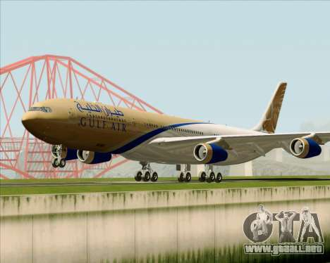 Airbus A340-313 Gulf Air para GTA San Andreas left
