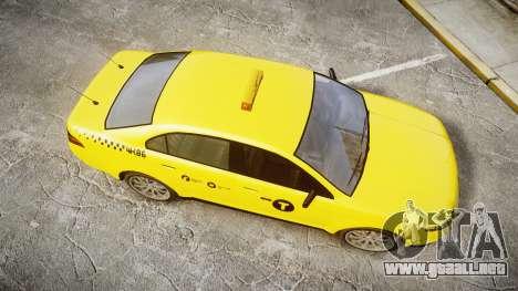 GTA V Vapid Taurus Taxi NYC para GTA 4 visión correcta