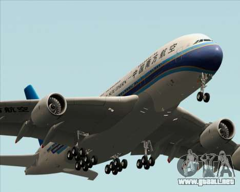 Airbus A380-841 China Southern Airlines para visión interna GTA San Andreas