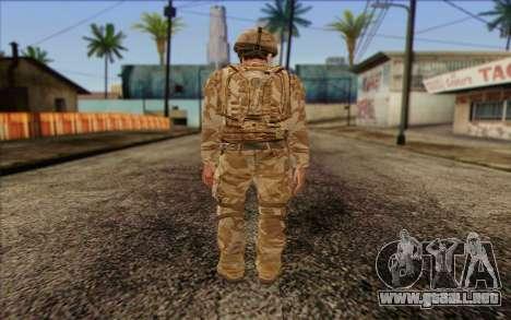 Soldados británicos (ArmA II: BAF) v2 para GTA San Andreas segunda pantalla