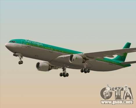 Airbus A330-300 Aer Lingus para GTA San Andreas vista hacia atrás