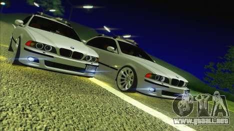 BMW M5 E39 2003 Stance para GTA San Andreas vista hacia atrás