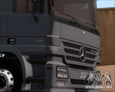 Mercedes-Benz Actros 3241 para vista lateral GTA San Andreas