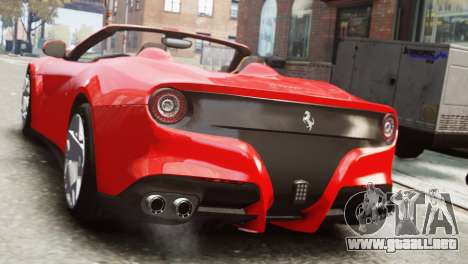 Ferrari F12 Roadster para GTA 4 left