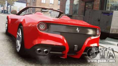 Ferrari F12 Roadster para GTA 4 left