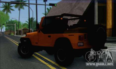 Jeep Wrangler para GTA San Andreas left