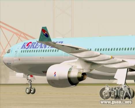 Airbus A330-300 Korean Air para visión interna GTA San Andreas