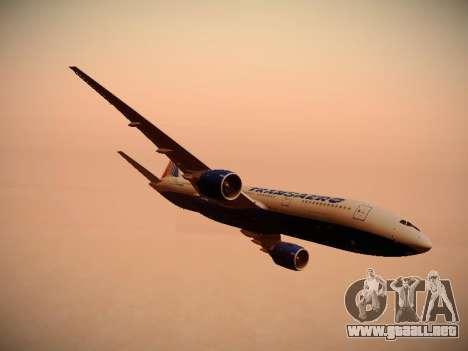Boeing 777-212ER Transaero Airlines para el motor de GTA San Andreas