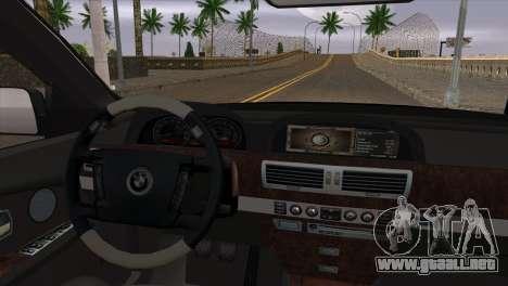 BMW E66 7-Series Limousine para la visión correcta GTA San Andreas