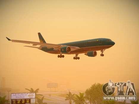 Airbus A330-200 Vietnam Airlines para vista inferior GTA San Andreas
