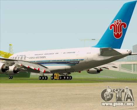 Airbus A380-841 China Southern Airlines para la visión correcta GTA San Andreas
