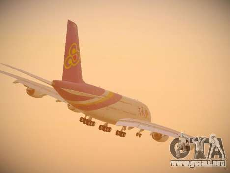 Airbus A380-800 Thai Airways International para la vista superior GTA San Andreas