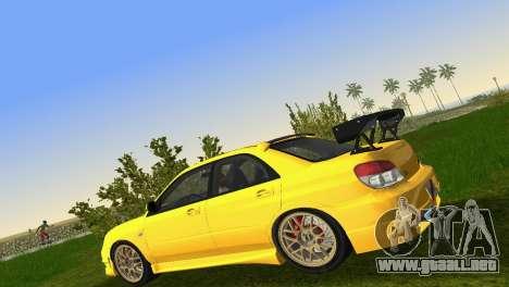 Subaru Impreza WRX STI 2006 Type 4 para GTA Vice City vista interior