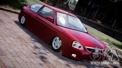 Lada Priora Coupe para GTA 4 vista interior