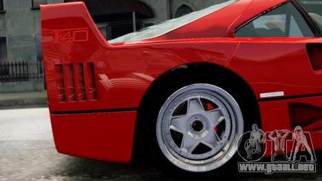 Ferrari F40 1987 para GTA 4 visión correcta