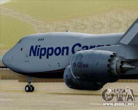 Boeing 747-8 Cargo Nippon Cargo Airlines para el motor de GTA San Andreas