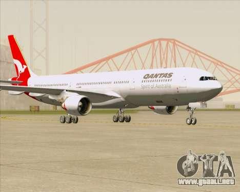 Airbus A330-300 Qantas para GTA San Andreas vista posterior izquierda