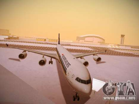 Airbus A340-600 Singapore Airlines para GTA San Andreas left