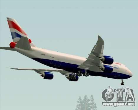 Boeing 747-8 Cargo British Airways World Cargo para vista lateral GTA San Andreas
