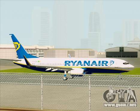 Boeing 737-8AS Ryanair para GTA San Andreas vista hacia atrás