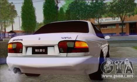 Proton Wira Official Malaysian Limousine para la visión correcta GTA San Andreas