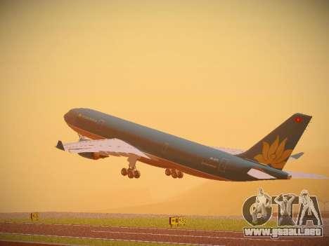Airbus A330-200 Vietnam Airlines para GTA San Andreas vista hacia atrás