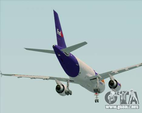 Airbus A310-300 Federal Express para la vista superior GTA San Andreas