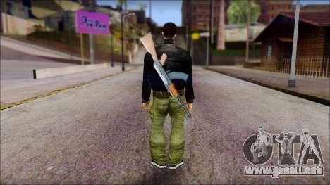 Shades and Gun Claude v1 para GTA San Andreas segunda pantalla