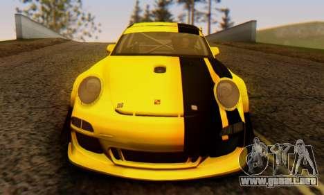 Porsche 911 GT3 R 2009 Black Yellow para visión interna GTA San Andreas